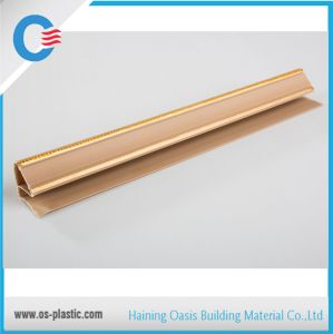 PVC Moulding with Silver PVC Corner with Golden Lines pictures & photos