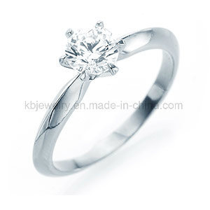 925 Sterling Silver Jewelry 6prongs Setting Ring 6mm CZ Ring (R1909) pictures & photos