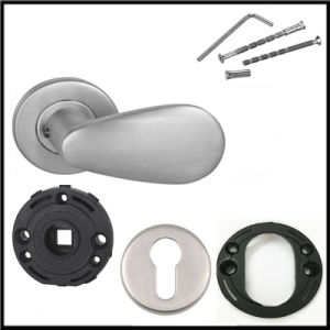 Modern Stainless Steel Solid Door Lever Handles Without Lock pictures & photos