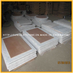 Custom Cheap Guangxi White Marble/Stone Round Coffee/Dinner Table-Top pictures & photos
