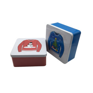 Embossing Square Tin Container Tin Can Wholesale Tin Box pictures & photos