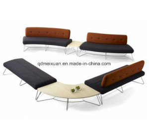 Sell Like Hot Cakes Leather Cloth Office Sofa Furniture Exhibition Hall Furniture Sofa Sofa Public Area at The Airport (M-X3752) pictures & photos