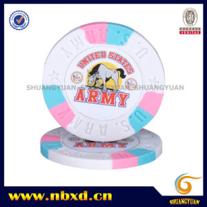 9.5g 3color Pure Clay Army Sticker Chip (SY-C04-1) pictures & photos