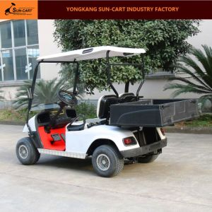 2 Passenger Electric Transport Cart with Rear Cargo Box pictures & photos