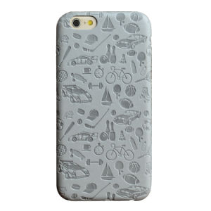 Debossed Pressed Pattern Slim Leather Phone Case for iPhone pictures & photos