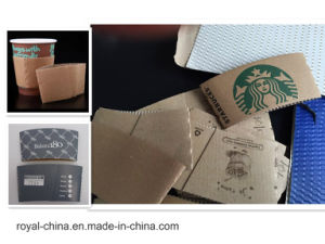 Model Coffee Cup Sleeve Folder Gluer Machine with ISO9001 pictures & photos
