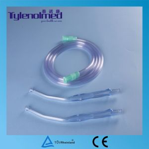 Disposable Surgical Yankauer Suction Handle with PVC Tubing pictures & photos