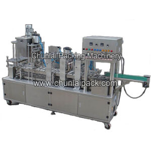 Pneumatic Driven Linear Cup Filling Sealing and Capping Machine pictures & photos