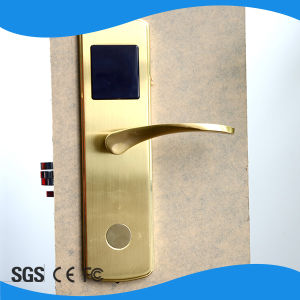 Security Electronic Key Card Door Hotel Lock pictures & photos