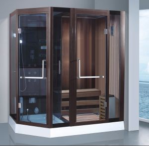 1900mm Diamond Shape Steam Combined Sauna with Shower (AT-8861A) pictures & photos