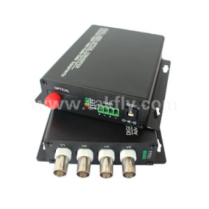 4CH Video + 1CH RS485 Data Optical Video Converter pictures & photos