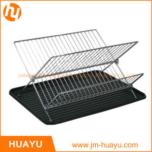 Stainless Steel Chrome Iron Kitchen Dish Rack Chromed Wire Dish Racks pictures & photos