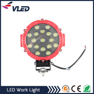 Black Red Automobile LED Work Light 51W Flood Beam LED for Cars Offroad and Special Engineering Inspection Lamp pictures & photos