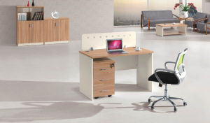 Modern Single Wooden Staff Computer Table with Pedastal pictures & photos