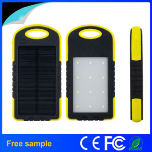 Mini Waterproof 5000mAh Solar Power Bank