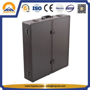Black Aluminum Smooth Pattern Professional Case with Mirror and Light ((HB-6309) pictures & photos
