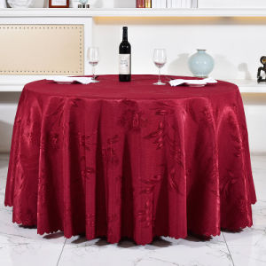Round Shinning Table Cloth for Hotel Restaurant Linens (DPF107106) pictures & photos