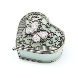 High Quality Custom Glass Metal Jewelry Boxes Hx-7336 pictures & photos