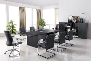 Tempered Glass Meeting Table (At028) pictures & photos