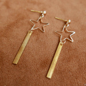 Simple Star Triangle Geometric Drop Earrings Simple Hollow Trendy Ear Earrings Jewelry pictures & photos