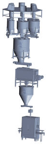 Automatic Powder Batching- Storing-Feeding-Mixing and Filling Line pictures & photos
