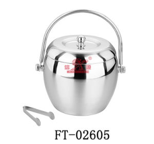 Stainless Steel Round Ice Bucket (FT-02605)
