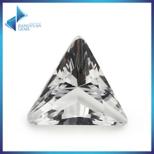 Wholesale Decorative White Triangle Glass Gems pictures & photos