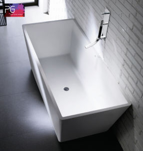 High End Solid Surface Retangular Apollo Outdoor Bathtub pictures & photos