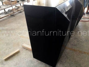 Modern Design Black Corian Made Side Cabinets pictures & photos
