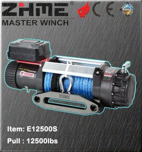 12500lbs Pull Electric Power Resource Winch for Sale with Synthetic Rope pictures & photos