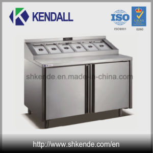 Commercial Stainless Steel Pizza Worktable Refrigerator