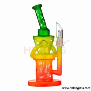 Hennnie Honey Comb Double Recycler Percolator Water Pipe pictures & photos