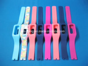 Promotional Fashionable Logo Printed Removable Silicone Rubber Straps for Watch pictures & photos
