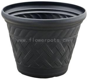 Rattan Plastic Flower Pots (KD9422) pictures & photos