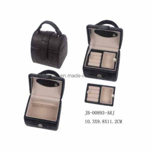Sweet Design Black Croco Material Small Jewelry Box pictures & photos