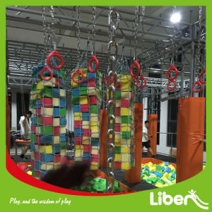 Indoor Park Free Jumping Trampoline with Hanging Bars&Ninja Warrors pictures & photos