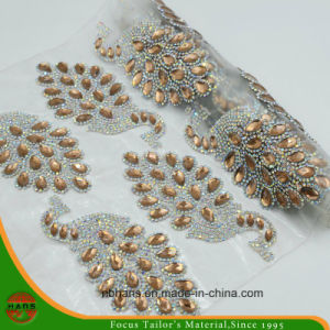New Design Heat Transfer Adhesive Crystal Resin Rhinestone Mesh (YH-003) pictures & photos