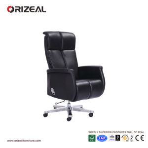 Orizeal Reclining Leather Office Chair, Large Executive Office Chair, Black Leather Office Chair (OZ-OCL014A) pictures & photos