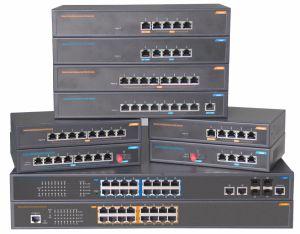 16port with 4 Gigabit SFP Fiber Port Poe Ethernet Network Switch pictures & photos