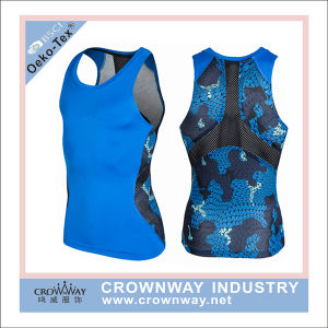 Men Dri Fit Compression Sports Top with Sublimation Printing pictures & photos