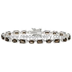 Silver Tone Round CZ Bridal Bangle Bracelet