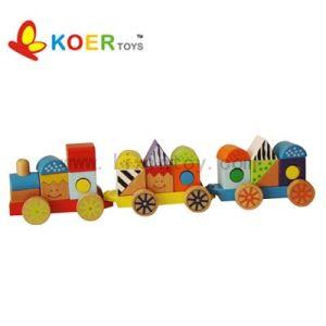 Wooden Toys - Wooden Blocks Train (LX623)