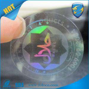 China Supply Pet Material Ashesive Hologram Custom Sticker
