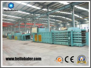 Horizontal Semi Automatic Baling Machine for Recycling Waste Management pictures & photos