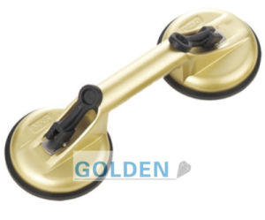 S6 Two Cups Diameter Golden Colour Vacuum Suction Cups for Glass