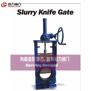 Kgd Bevel Gear Slurry Knife Gate Valve pictures & photos