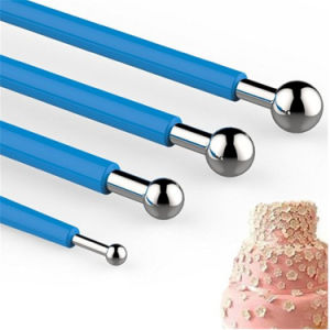 4mm-25mm Embossing Rolling Pin Sugar Craft Cake Metal Ball Fondant Tool pictures & photos