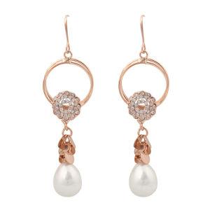 High Quality Material Pearl Rhinestone Earring (33HH3006)
