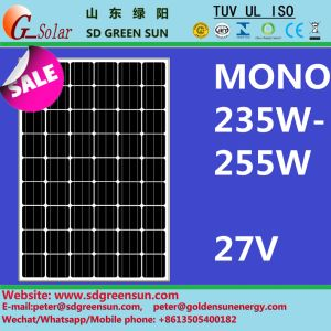 27V 235W-255W Mono Solar Panel with Positive Tolerance (2017) pictures & photos