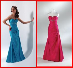 Hot Fashion Sweetheart Mermaid Satin Embroidery Evening Dresses Party Prom Dress 1242